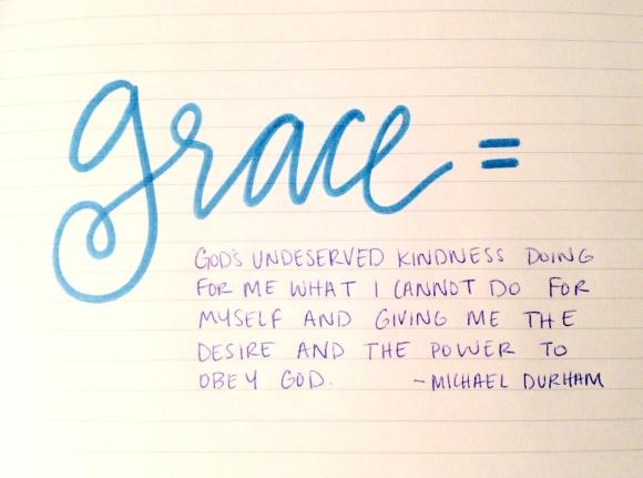 grace definition, michael durham