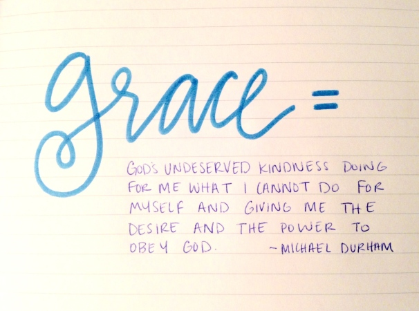 grace definition, michael durham
