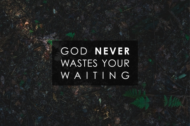 God never wastes your waiting.jpg